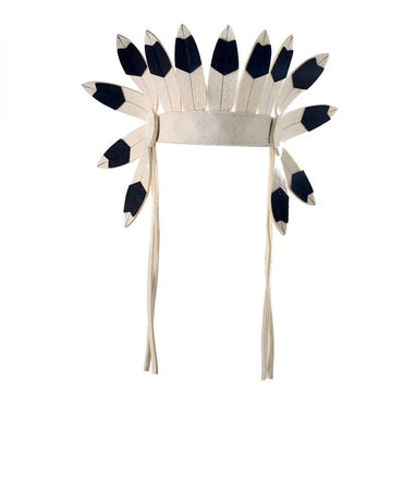 Short Felt Indian Headdress Black | Frida's Tierchen