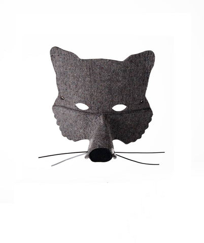 Grey Felt Wolf Mask | Frida's Tierchen