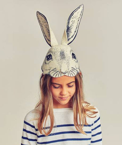Rabbit Headpiece Black | Frida's Tierchen