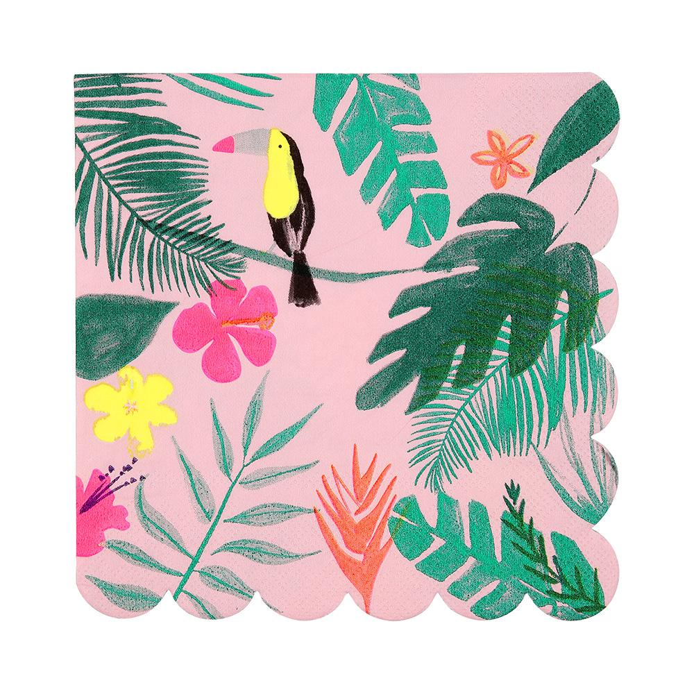 Meri Meri Pink Tropical Napkin (Large)