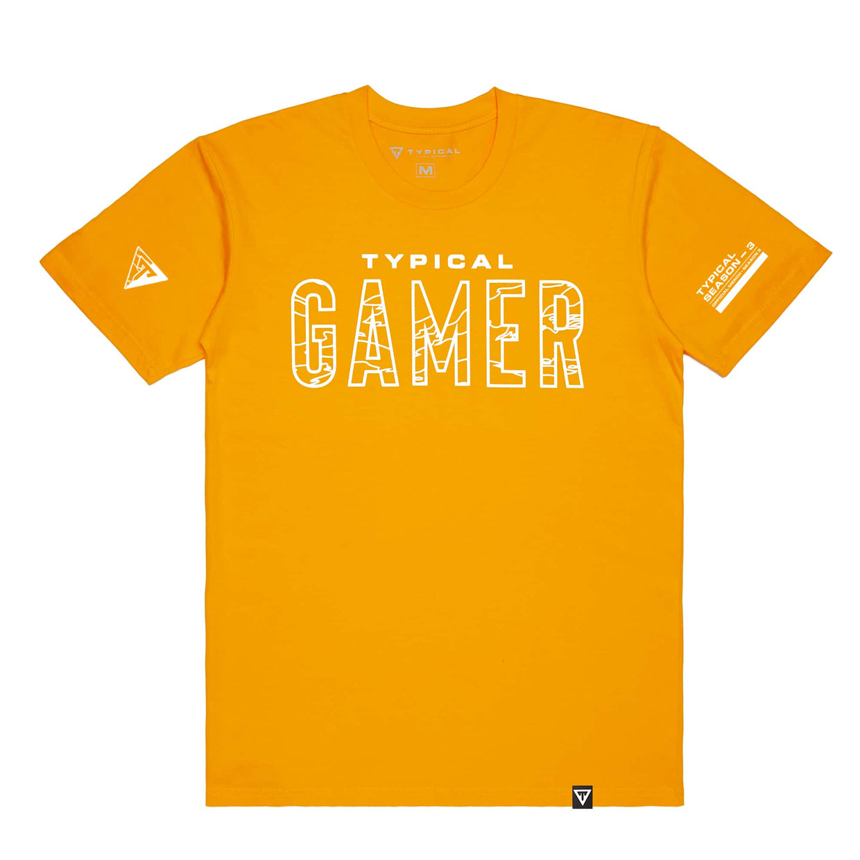 Typical Gamer 'Season 3' Tee - Gold