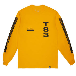 Typical 'Season 3' Long Sleeve Tee - Gold