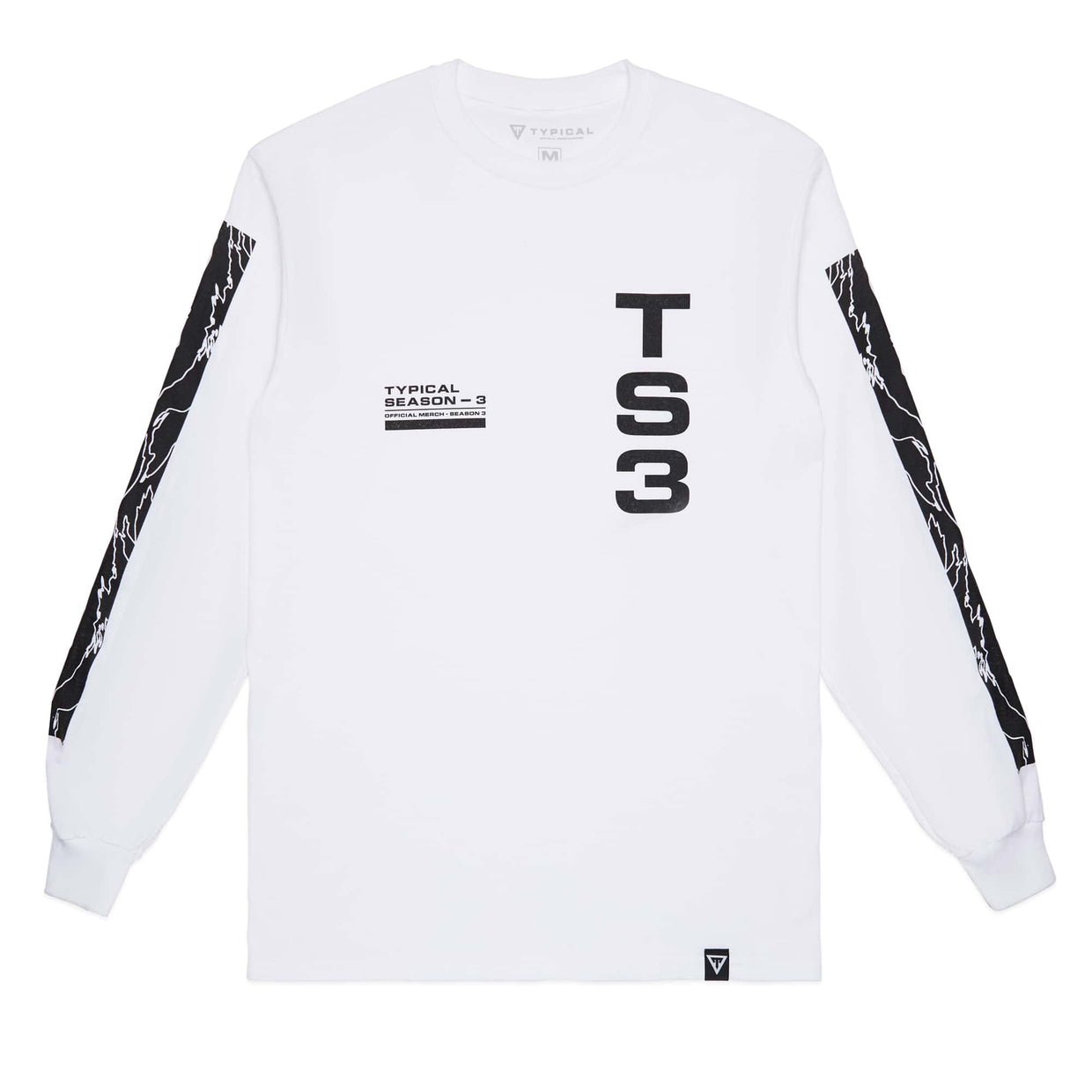 Typical 'Season 3' Long Sleeve Tee - White