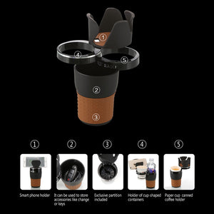 Cup Holder Organizer (Phone, Drinks, Sunglasses, Coins, Keys)