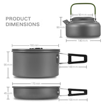 Outdoor Camping Cookware Set (Ultra Rugged Pot, Pan, & Kettle)