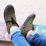 Casual Canvas Shoes For Men : Olive