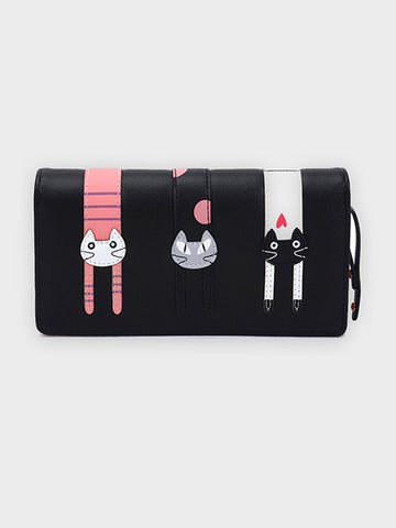 Cool Cat Motif Women's Wallet