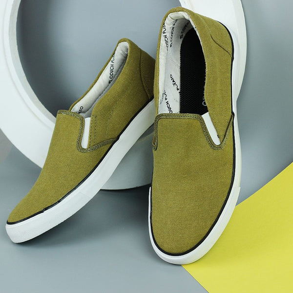 Couch Potato Basic Slip Ons - Olive