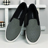 Couch Potato Checkered Slip Ons - Blue : Black