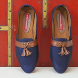 Blue Loafer With Tassel Detail