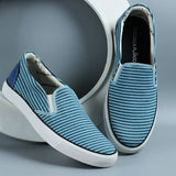 Couch Potato Striped Slip Ons