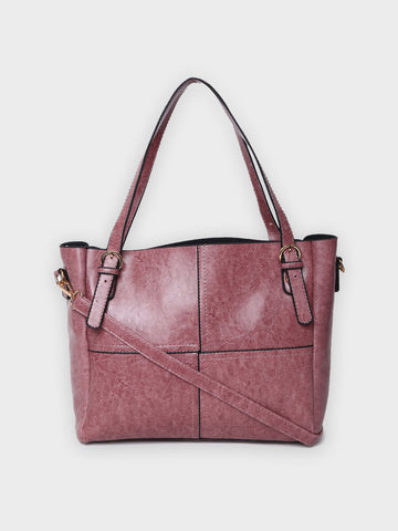 Paneled Tote Bag