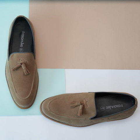 Semi Formal Loafers with tassel detail: Tan
