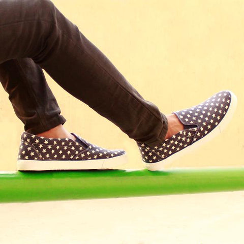 Funky Star Print Casual Slip On Sneakers for Men