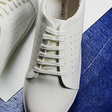 Couch Potato Casual Perforated White Sneakers