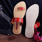 Block Print One-Toed Women's Flats