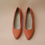 Pointed Toe Ballerinas : Orange