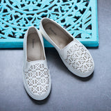 Laser Cut Women's Slip-on Sneakers