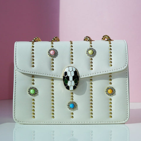 Solid Sling Bag with studded detailing