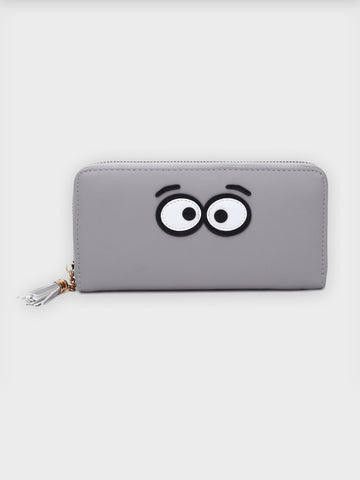Eye Motif Tassel Clutch