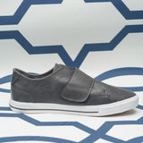 Loop Fastener Perforated Slip-on Sneakers