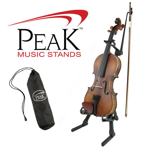 Peak Violin/Viola Stand with Bow Holder
