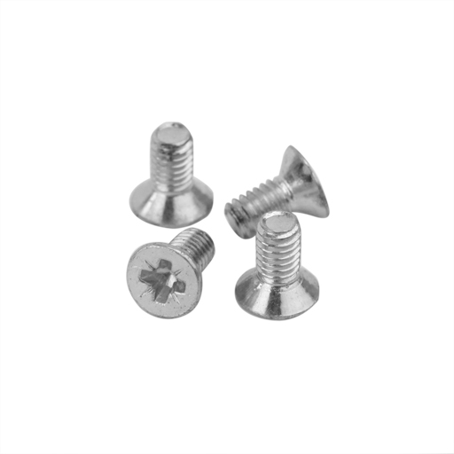 Shoulder Rest Part - Bonmusica Flat Zinc Screw 4x8mm