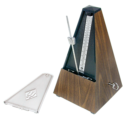 Wittner Plastic Walnut Metronome with Bell Walnut 814K