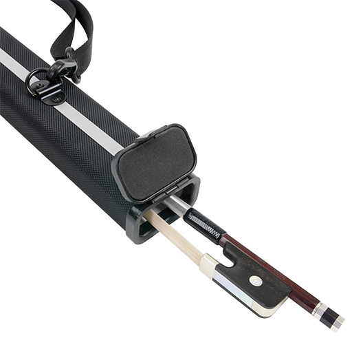 Bow Case - Kreisler For French Double Bass Bow or 4/4 Cello Bow Black Aluminium