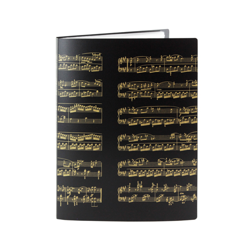 Display Folder 40 pages black with gold manuscript.