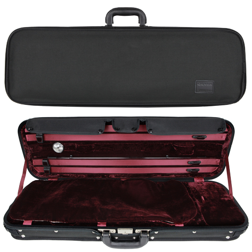 Violin Case - Gewa Liuteria Maestro Oblong, Black/Red, 4/4 - Special Order Only