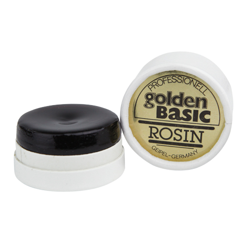 Violin Rosin - Golden Basic Medium Amber with Gold Flakes