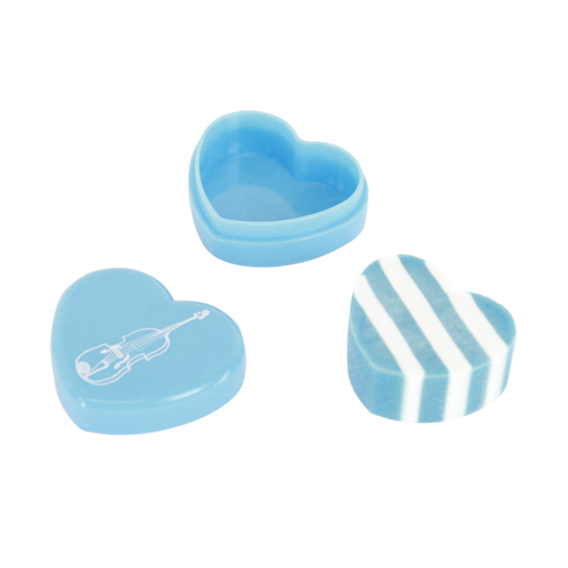 Eraser - Heart Shaped in Box Blue with violin or piano.