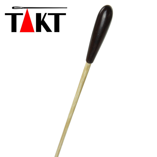 Takt Wooden Conductors Baton with Ebony Handle 15""