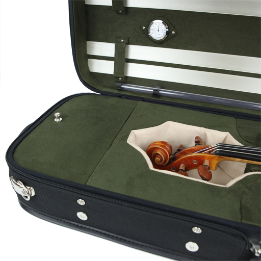 SSC Sonata Oblong Violin Case Black/Cream-Olive