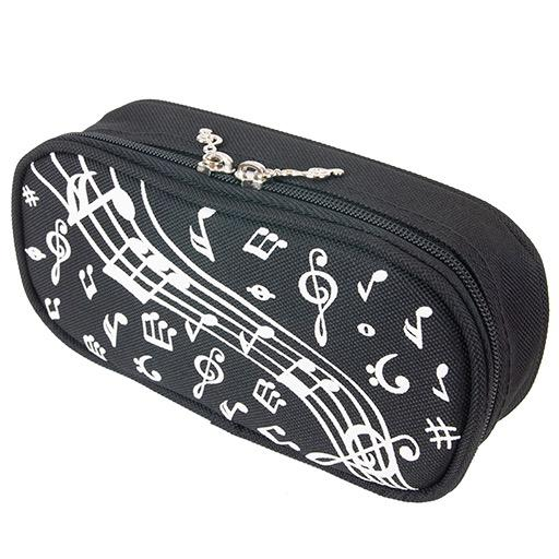 Black Pencil Case with White Notes