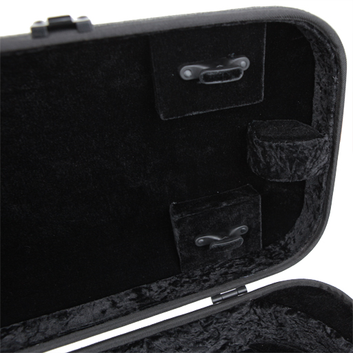 GEWA Bio-S Oblong Violin Case with Sheet Music Pocket Grey/Black