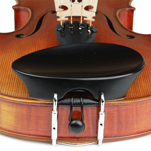 V.A. New Flesch Violin Chinrest Ebony 1/2-1/4