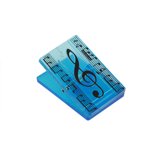Paper Clip - Rectangular with Treble Clef & Manuscript Blue.