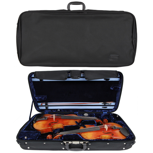 Double Case - Gewa Concerto for 1 Violin and 1 Viola, Black/Blue