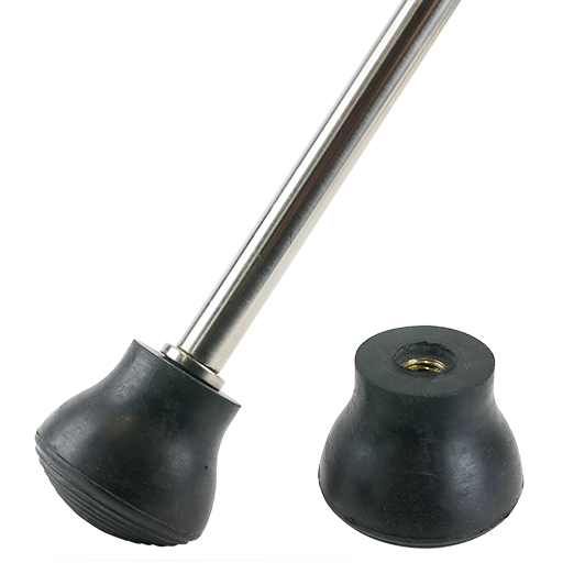 Double Bass Endpin Protector (Rubber Stopper) - Pear Shaped, Brass Screw