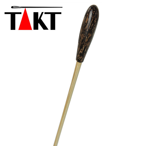 "Conductors Baton - Takt 13"" Wooden Stick with Small Plain Tigerwood Handle"