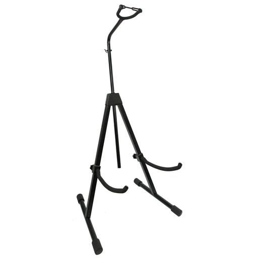 Cello & Double Bass Stand - Black with Bow Holder