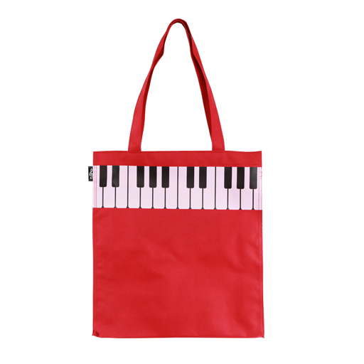 Music or Shopping Bag - Red with pink keyboard.