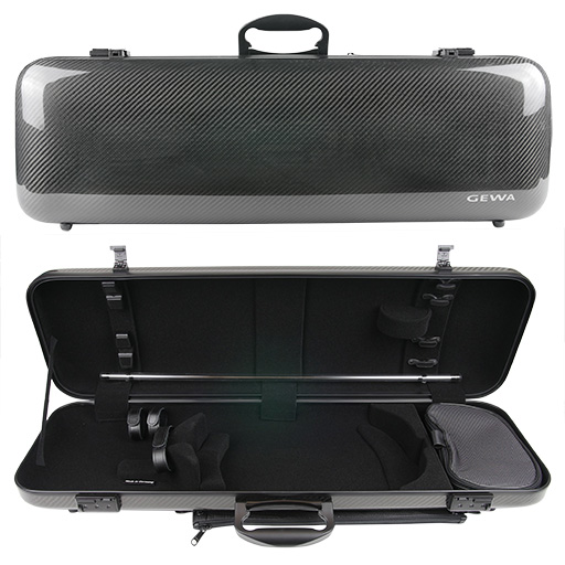 GEWA Idea 1.8 Oblong Violin Case Black Carbon