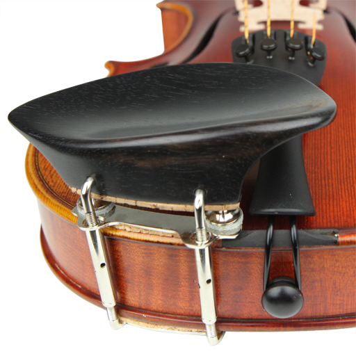 Violin Chinrest - Wilfer Schmidt Ebony Height Adjustable (Beside T/P)