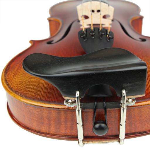 Violin Chinrest - Wilfer Berber Ebony Height Adjustable (Over T/P)