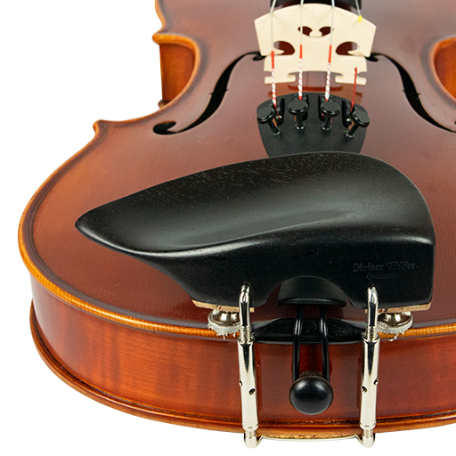 Violin Chinrest - Wilfer Tekka Height Adjustable Ebony (Over T/P)