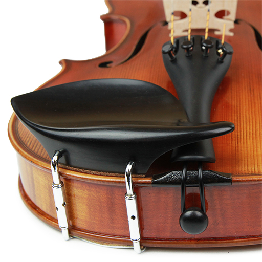 Violin Chinrest - Morawetz Ebony Chrome Fittings V.A.