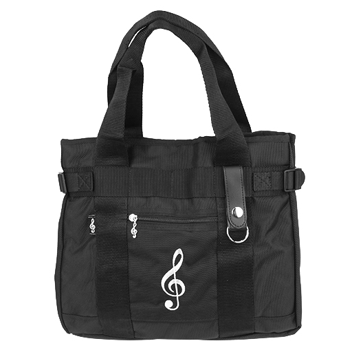 Bag - black with white treble clef